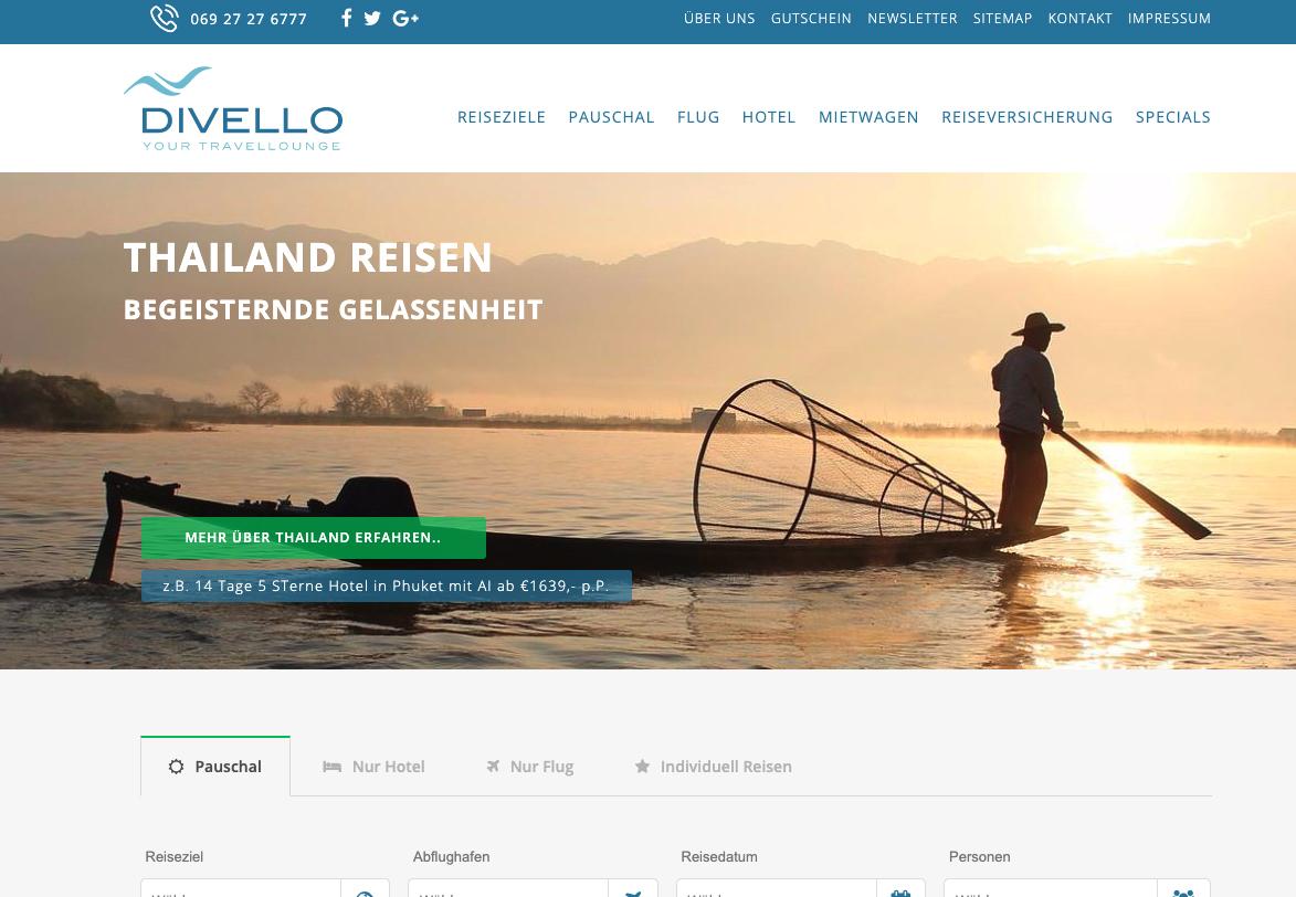 Screenshot von Alte Divello Webseite