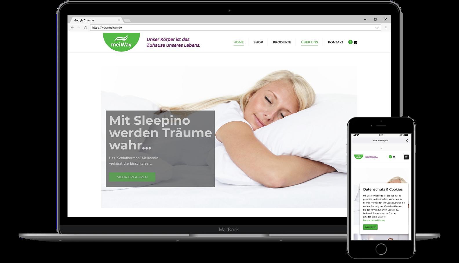 Webdesign für Webseite von MeiWay
