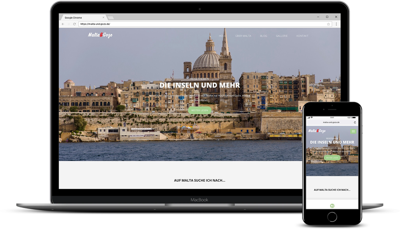 Malta und Gozo Webseite